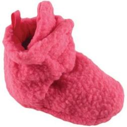 Luvable Friends Baby Girl Fleece Booties Pink 12-18 Months