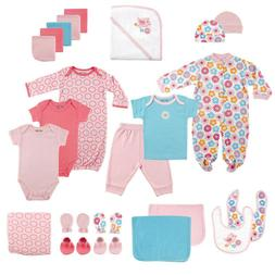 Luvable Friends Baby Girl Gift Cube 0-6 Months Pink Birds 24