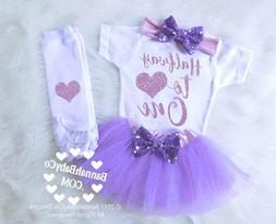 Baby Girl Half Birthday Outfit Halfway To One 6 months Birth