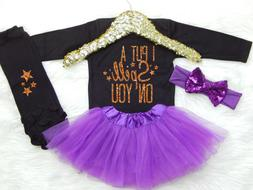 Baby Girl Halloween Outfit I Put A Spell On You Girls First