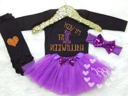 Baby Girl Halloween Outfit My Very First Halloween Black and