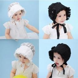 Baby Girl Infant Newborn Kids Cute Lace Hat Cap Beanies Vintage Bonnet Hats Hair