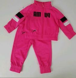 Puma Baby Girl Jog Track Suit Size 12 Months Pink Infant New