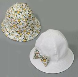 Baby Girl Kids Summer Sun Protection White  Hat Cotton With