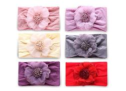 Baby Girl Nylon Headbands, Girl's Hairbands and Bows for New