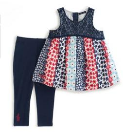 Tommy Hilfiger Baby Girl Outfit Sleeveless Top & Legging Set