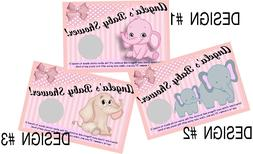 BABY GIRL PINK ELEPHANT SCRATCH OFF OFFS PARTY GAME GAMES CA
