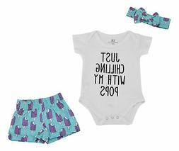 Baby Girl Popsicle Short Set Newborn 3 6 9 12 18 Month Toddl