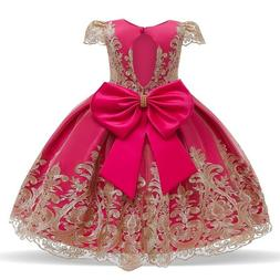 Baby Girl Princess Lace Flower Girl Birthday Party Dress Wed