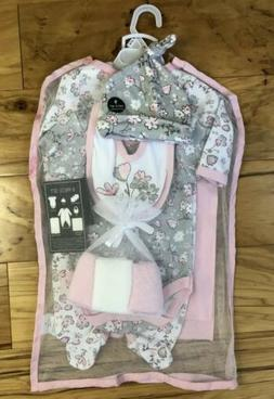 Laura Ashley Baby Girl's 9 Piece Outfit Pink Infant 0-3 Mont