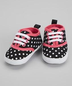 Luvable Friends - Baby Girl's Classic Canvas Sneakers