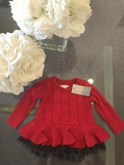 First Impressions Baby Girl's Red Black Dress size 3-6 month