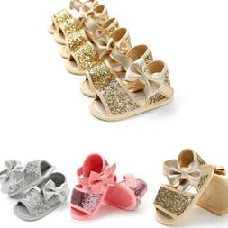 Baby Girl Sequins Sandals Princess Breathable Bowknot Shoes