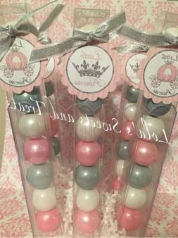 Baby Girl Shower pink and Silver Little Princess Party Favor