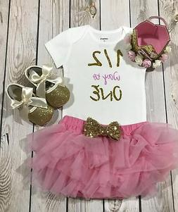 Baby girl six month clothes, six month birthday baby girl, g