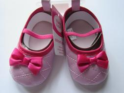 Luvable Friends Baby Girl Slip-On Baby Bootie Pink Quilted M
