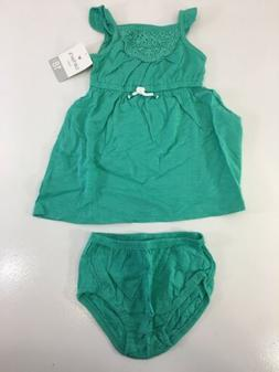 Carters Baby Girl Summer Dress With Under Wear Size 18 Month