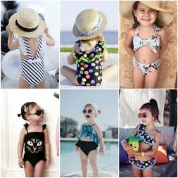 Baby Girl Summer Swimwear Swimsuit Toddler Kids Floral Bikin