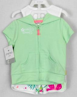 Carters Baby Girl Sz 3 Months 3 Piece Summer Outfit Hoodie B