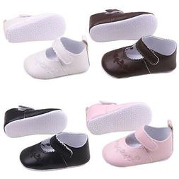 Baby Girl Toddle Shoes Soft PU Leather Sole Crib Embroidery