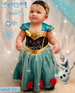 Baby Girl Toddler Anna Coronation Dress Frozen Inspired Cost