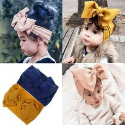 Baby Girl Toddler Big Bow Hairband Headband Stretch Turban H