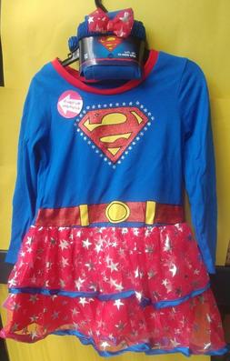 Baby Girl Toddler SuperGirl Child Costume Halloween Party Dr