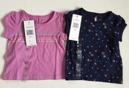 Tommy Hilfiger Baby Girl Top Set of Two 3-6 Months T-sirt Ea