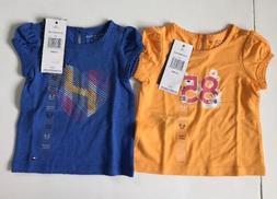 Tommy Hilfiger Baby Girl Top Set of Two 6-9 Months T-sirt Ea
