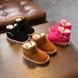 Baby Girl Warm Cotton Boots Shoes Toddler Infant Soft Sole S