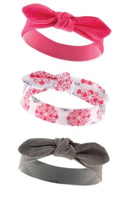 Yoga Sprout Baby Girls' 3 Pack  Bow Baby Headbands, Medallio