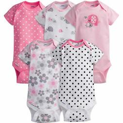 d8d6de3335 Editorial Pick Gerber Baby Girl 5 Pack Onesies