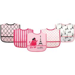 baby girls 5 pk waterproof bibs