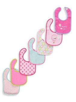 Luvable Friends Baby Girls' 7-Pack Bibs