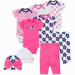 Gerber Baby Girls 9 Piece Layette Set NEW Various Sizes Baby