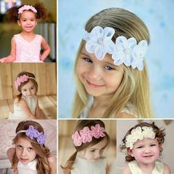 Baby Girls Baptism Headbands Infant Toddler Christening Head