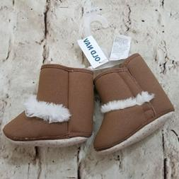 Old Navy Baby Girls Brown Fur Boots Shoes Size 6-12 Months