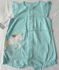 Baby girls clothes 3 months carters  unicorn snap-up romper