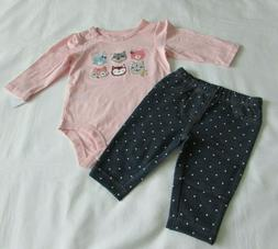 Baby Girls clothes 6 Months Carter's 2-piece pant set New wi