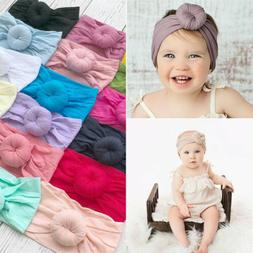 Baby Girls Kids Toddler Bow Knot Hairband Headband Stretch T