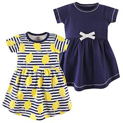 Touched by Nature Baby Girls' Organic Cotton Dress, 2 Pack,