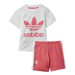 adidas Originals Baby Girls Originals Short & Tee Set, top B