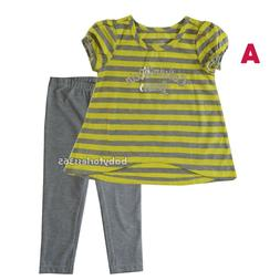 Calvin Klein Jeans Baby Girls Outfit Shirt legging Size 12 1