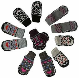 ToBeInStyle Baby Girls' Pack of 6 Print Sock Shoes with Rubb