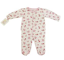 ABSORBA Baby Girls Pink Print Tea Party Footie Jumpsuit ATNG