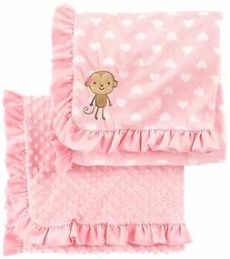Simple Joys by Carter's Baby Girls' 2-Pack Plush Blankets, P