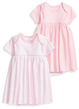 Moon and Back Baby Girls' Set of 2 Organic Short-Sleeve Dres