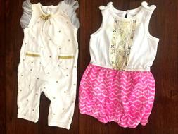 Baby Girls Sz 3-6 months Rompers Lot of 2     +