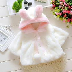 Baby Girls Winter Jackets Warm Faux Fur Fleece Coat Children