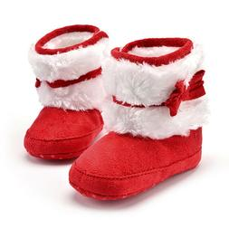 Baby Girls Winter Snow Boots Newborn Infant Solid Bowknot Cr